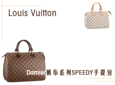 Louis Vuitton女士Damier帆布系列SPEEDY手提包